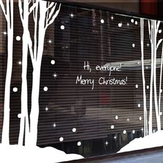 Large Christmas tree glass window wall sticker Christmas Forest Wall decal home decor shop decoration X mas stickers xmas015-inWall Stickers from Home & Garden on Aliexpress.com | Alibaba Group
