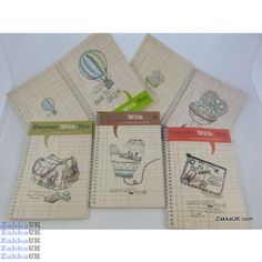 Kawaii Notebooks - Forever With You Design - Spiral Bound (24 books - 5 Assorted Designs) Size: B5 Novelty Rubbers Erasers Kawaii Stationery Wholesales
