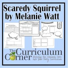 Printable Activities for the Scaredy Squirrel Books by Melanie Watt   FREE   The Curriculum Corner