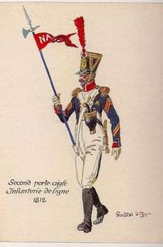 French; Line Infantry, 2nd Porte Aigle, 1812