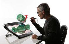 3-D creation/design... in live, interactive 3-D!! Kinda Tony Stark-ish... amazing :)