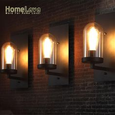 Find More Wall Lamps Information about Vintage Industrial Country Metal Base Glass Wall Light Corridor Dining Room Applique murale Indoor/Outdoor Stairways Wall Lamps,High Quality lamp light socket,China light desk lamp Suppliers, Cheap lamp outdoor lighting from HomeLava Store on Aliexpress.com