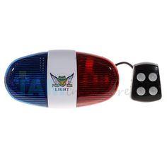 4-Tone Düdük Kırmızı ve Mavi Polis Işık