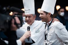 Our former winners, Régis Marcon and Rasmus Kofoed, interviewed during the live. #bocusedor #bocusedorwinners #roadtolyon Bocuse Dor, Interview, Europe, Live