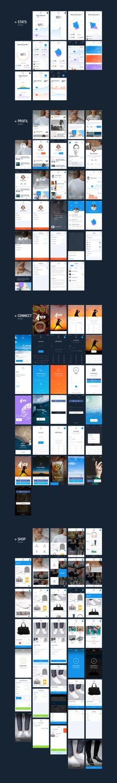 Arco - Mobile UI Kit by MarketMe on @creativemarket Mobile Ui Design, App Ui Design, Interface Design, User Interface, Motion Design, Visual Hierarchy, Ui Components, Ios Ui, App Design Inspiration