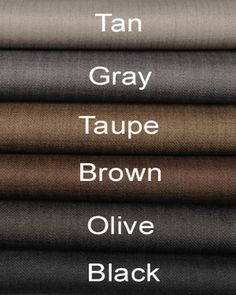 Good suit colours every man should have.