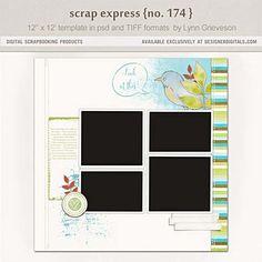 Scrap Express No. 174 - Digital Scrapbooking Templates DesignerDigitals, Lynn Grieveson