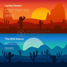44852884-horizontal-banner-set-with-lonely-desert-and-wild-nature-isolated-vector-illustration.jpg (450×450)