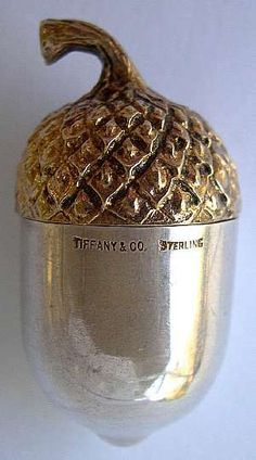 Tiffany silver thimble holder:
