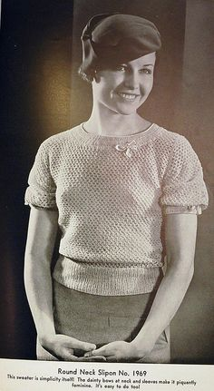 1930s vintage crochet pattern blouse by wondertrading, via Flickr