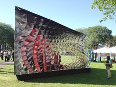 Pavilion built by Yale Architecture students for the New Haven International Festival of Arts and Ideas