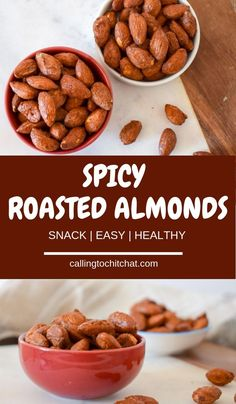 If you need a snack, try these Sriracha Roasted Almonds. They are sweet, spicy, salty, and full of healthy fats — aka the perfect snack. Best Appetizer Recipes, Snack Recipes, Appetizers, Snacks Ideas, Camping Recipes, Vegetarian Recipes, Quick Snacks, Savory Snacks, Healthy Snacks