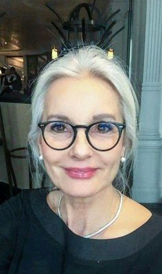 de9385d741 love these black frames with the white hair