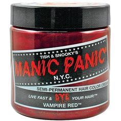 Manic Panic Vampire Red Hair Dye 4 oz ($17) ❤ liked on Polyvore featuring beauty products, haircare, styling products and manic panic