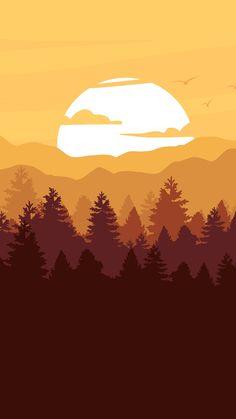 Best Illustration Wallpaper For Phone – Wallpaper Scenery Wallpaper, Landscape Wallpaper, Nature Wallpaper, Cool Wallpaper, Landscape Art, Wallpaper Backgrounds, Doodle Drawing, Minimalist Wallpaper, Cute Wallpapers