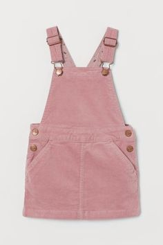 Corduroy Overall Dress - Powder pink - Kids Dungaree Dress, Dungarees, Overalls, Cotton Long Dress, Dress Long, Cotton Dresses, Corduroy Overall Dress, Girl Outfits, Fashion Outfits