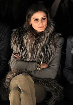 7bc2370e44 OP - front row. Olivia Palermo Fur