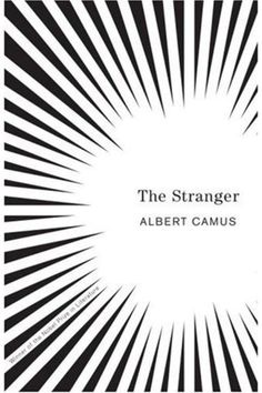"The Stranger ""Eminent designer Helen Yentus was given the task of creating new covers for the complete works of Albert Camus, and we think this is the coolest. The utilitarian type contrasts with the optical illusions of the black and white shards, creating a neat sense of vertigo; something which sits well with Camus' subjects and, well, just looks great."""