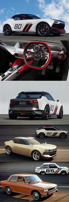 2013 Nissan IDx Nismo / Freeflow / 1973 Datsun 510 / concept / Japan / red white brown beige black