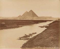 19e siècle - Pyramides de Guizeh, vue panoramique - BONFILS Félix