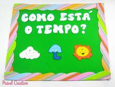 PAINEL DO TEMPO COM MOLDE, SALA DE AULA. CRÉDITOS:   http://www.painelcriativo.com.br/