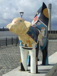 Lambanana at the Pier Head, Liverpool. Liverpool Home, Liverpool History, Liverpool England, Colorful Animals, Happy Trails, Cumbria, Land Art, Lake District, British Isles