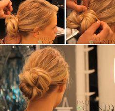 Glitz Bliss: Hair Inspiration & DIY: Easy Chignon Updo