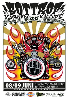Poster Bottrop Kustom Kulture 2012, Flake & Flames is an official sponsor!