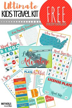 Road trips can be a disaster with littles, but with THIS TRAVEL KIT and all the FREE PRINTABLES to DIY, your trip could be bliss!