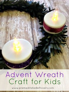 DIY Advent Wreath Craft for Kids