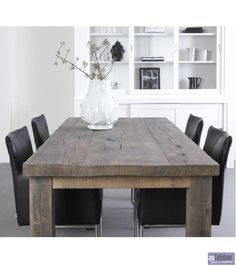 Robuuste eikenhouten tafel Markus Rustic Table, Furniture, Industrial House, Interior, Home, Dinning Room, Dining Table, Table, Rustic Dining Table
