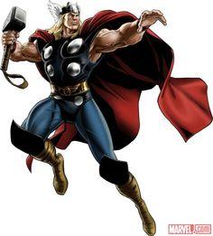 Thor (alternate costume) character model from Marvel: Avengers Alliance