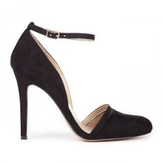 Audra ankle strap pump - Black