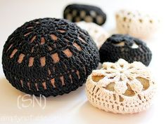 Crocheted rock cozies make for rocks you will definitely want to pet. A tutorial from Simply Notable.