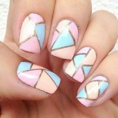 <3 Art D'ongles Pastel, Pastel Nails, Acrylic Nails, Pastel Colours, Pretty Pastel, Colorful Nails, Gel Nail, Coffin Nails, Acrylics