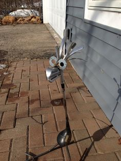 Golf Driver/Iron Bird Garden sculpture Yard Art by nbillmeyer, $30.00