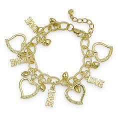 Heart & Love Charm Bracelet $3.00