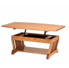 Amish Made Solid Wood Contemporary Reseda Lift-Top Coffee Table