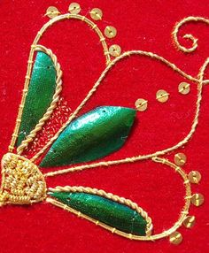 Beetlewing  Goldwork Embroidery by marycorbet, via Flickr