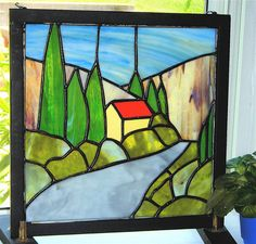 Tuscany II Stained Glass Panel by SBSG on Etsy