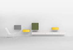 Pastoe   Vision Elements #dutchdesign #yellow #white #green #color #kokwooncenter #201605