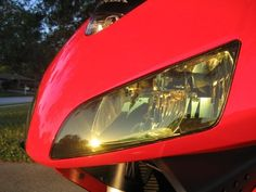 Motorcycle headlight covers