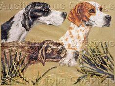 Rare On Point Sportsman CrossStitch Kit Grouse Hunt Pointer Dogs