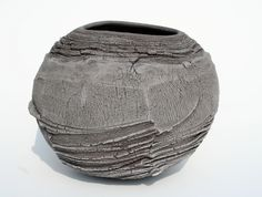 Patricia Shone Ceramics Erosion Jar Ht 22cm earthenware