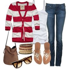 Simple comfy and cute Preppy Outfits, Classy Outfits, Cute Outfits, Classy Clothes, Pretty Clothes, Wardrobe Ideas, New Wardrobe, Hollister Clothes, Fashion Ideas