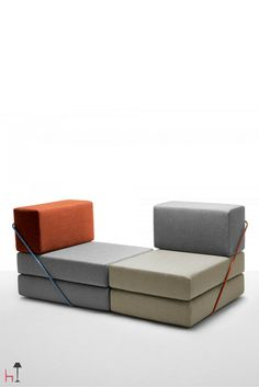 Rodolfo by ThESIGN is composed of just 3 types of modules. Everyone can create their own unique sofa by choosing among a vast array of fabric textures and colours!