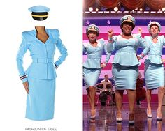 Like many of Glee's crazier costumes, the Troubletones' 'Candyman' costumes were designed in-house, then made-to-measure by professional costuming company, Muto Little. These outfits were styled after...