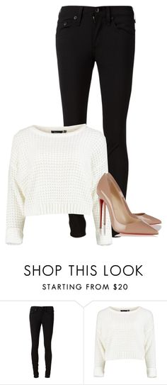 """""""#3"""" by melissagatzia ❤ liked on Polyvore featuring rag & bone/JEAN and Christian Louboutin"""