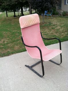 Reserved For Steve Hoffmann Retro Orange Patio Chair Lloyds Loom - Lloyd flanders outdoor furniture