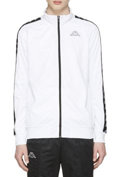 Kappa White Banda Aniston Track Jacket from SSENSE (men, style, fashion, clothing, shopping, recommendations, stylish, menswear, male, streetstyle, inspo, outfit, fall, winter, spring, summer, personal)